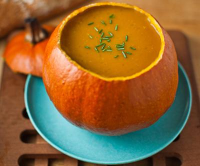 Zupa dyniowa ze szczypiorkiem