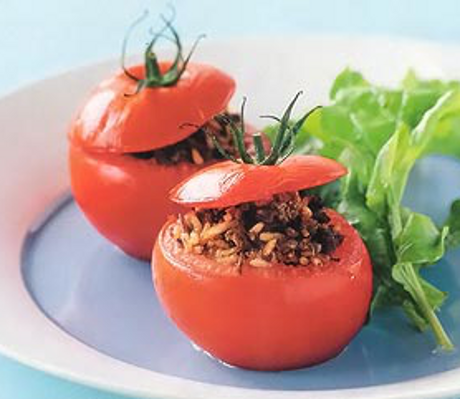 Pomidory z dzikim ryżem