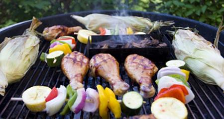 Grillowane warzywa,mięso, ryby i owoce