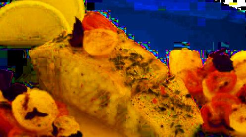 Dorsz zapiekany z pistacjami